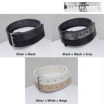 BI COLOR leather big choker