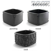 BRUTALIST square leather bracelet