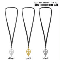 SYMBOL leather necklace (black)