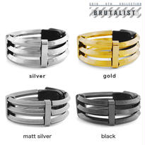 TRIPLICATE metal tube bracelet