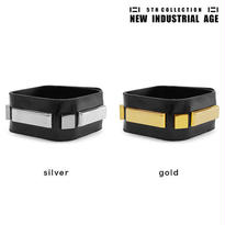SQUARE shape leather bracelet