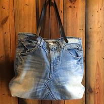 D&C DENIM TOTE BAG【IND/Leather】