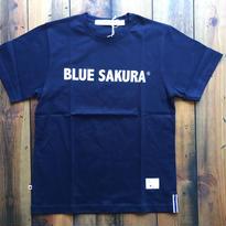 BLUE SAKURA PRINT T-SHIRT 【NAVY】/ BS-CS1-03