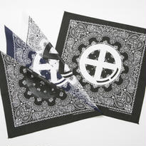(40%OFF)BxH Circle Logo Print Bandanna