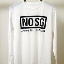 Campbell Helmets NO SG L/S TEE ホワイト