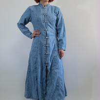 VINTAGE   LONG DENIM CHAINA ONEPICE