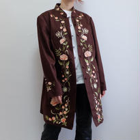 VINTAGE   FLOWER embroidery COAT