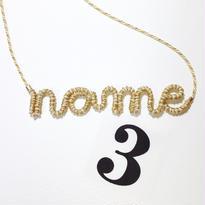 [オーダーメイド]Japanese silk cord necklace くみひもネックレス/3文字