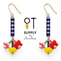 Jewelry kit アクセサリー制作キット/フラワービーズのピアス(イヤリング変更可)
