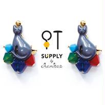 Jewelry kit アクセサリー制作キット/猫のピアス