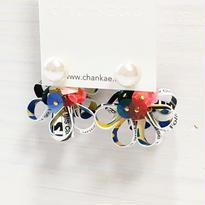 Metrocard pierced earrings メトロカードピアス/フラワーキャッチタイプ・パール×ゴールド 03