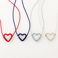 Japanese silk cord necklace くみひもネックレス/ハート
