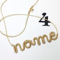 [オーダーメイド]Japanese silk cord necklace くみひもネックレス/4文字