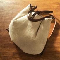 かわいい巾着リュック・バッグ(手縫いで2色ステッチ)