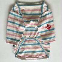 天竺コットンマリンボーダーロンT  size: S(ピンクxミントブルー)style no.16041003PM