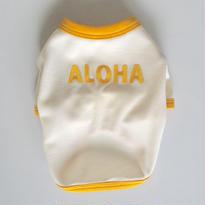 〔クール&UV〕ヴィンテージライクALOHA Tシャツ size: XS(ミルクホワイト)style no.1605002M