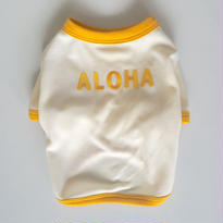 〔クール&UV〕ヴィンテージライクALOHA Tシャツ size: S(ミルクホワイト)style no.1605002M