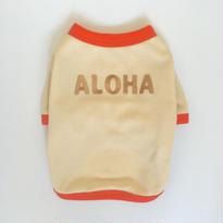 〔クール&UV〕ヴィンテージライクALOHA Tシャツ size: XS(ベージュ)style no.1605002B
