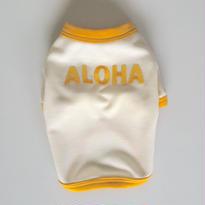 〔クール&UV〕ヴィンテージライクALOHA Tシャツ size: XXS(ミルクホワイト)style no.1605002M