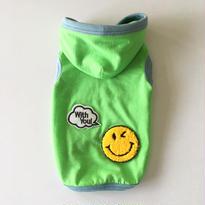 限定販売品♪  〔防蚊&防ダニ〕SMILY withyou! フード付タンク size:XS(グリーン)style.no: 1606001G