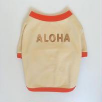 〔クール&UV〕ヴィンテージライクALOHA Tシャツ size: S(ベージュ)style no.1605002B