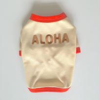 〔クール&UV〕ヴィンテージライクALOHA Tシャツ size: XXS(ベージュ)style no.1605002B
