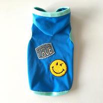 """〔防蚊&防ダニ〕SMILY  """" PEACE & LOVE """" フード付タンク size:XXS(ブルー)style.no: 1606002B"""