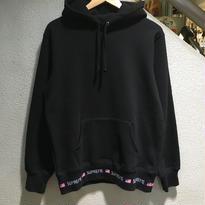 SUPREME / Logo Rib Hooded Sweatshirt size : M BLK 2015A/W