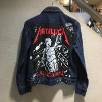 """【Ladies】Vintage Custom / Denim Truck Jacket """"METALICA"""""""