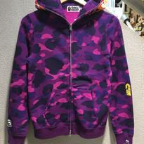 "A BATHING APE / COLOR CAMO TIGER FULL ZIP HOODIE size : S PRP ""2016S/S"""