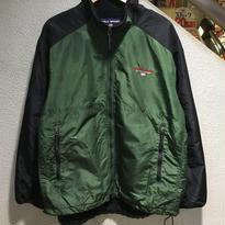 POLO SPORT / 90's Vintage Nylon Fleece Jacket size : LL GRN/BLK