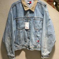 TOMMY HILFIGER (TOMMY JEANS) / 90's Vintage Denim Jacket size : XL IDG
