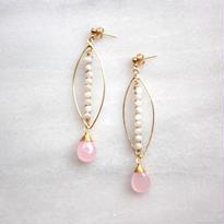 Marquise hoop pink