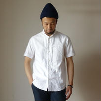 【RECOMMEND】nisica mokusiro ニシカ モクシロ SMALL STAND NECK SHIRT S/S スモールスタンドネックシャツ 半袖 WHT ホワイト
