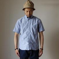 【RECOMMEND】nisica B.D SHIRT SHORT SLEEVE BLU ニシカ ボタンダウンシャツ半袖 BLU ブルー