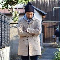 【完売御礼】arbre BURBERRYS CLOTH SOUTIEN COLOR COAT アルブル バーバリークロス ステンカラーコート  ベージュ