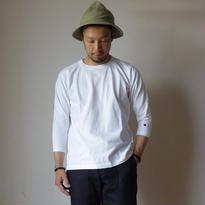 【完売御礼】Champion チャンピオン T1011 RAGLAN 3/4 SLEEVE TEE ラグラン 七分袖Tシャツ WHT ホワイト MADE IN USA  アメリカ製