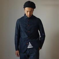 【完売御礼】arbre アルブル COVERALL JACKET モールスキン ショールカラー カバーオールジャケット  NVY  ネイビー