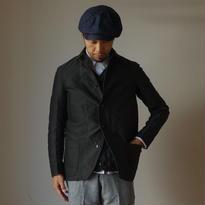 【完売御礼】arbre アルブル COVERALL JACKET モールスキン ショールカラー カバーオールジャケット  BLK ブラック