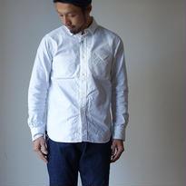 【完売御礼】Ordinaryfits オーディナリーフィッツ OM-S001  インビシブルシャツ 隠しボタンダウンシャツ WHT ホワイト