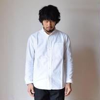 【完売御礼】nisicamokusiro  SMALL STAND SHIRT WHTスモールスタンドシャツ ホワイト