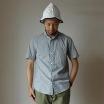 【完売御礼】nisica mokusiro ニシカ モクシロ SMALL STAND NECK SHIRT S/S スモールスタンドネックシャツ 半袖 GRY グレー