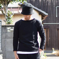 【RECOMMEND】Tieasy AUTHENTIC CLASSIC ティージーオーセンティッククラシック オーガニックボートネックバスクシャツ ブラック