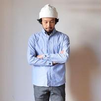 【ラスト1点!】nisica B.D SHIRT BLU ニシカ ボタンダウンシャツ ブルー