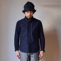 【RECOMMEND】nisica B.D SHIRT NVY ニシカ ボタンダウンシャツ ネイビー