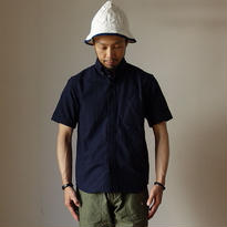 【RECOMMEND】nisica ニシカ B.D SHIRT SHORT SLEEVE ボタンダウンシャツ半袖 NVY ネイビー
