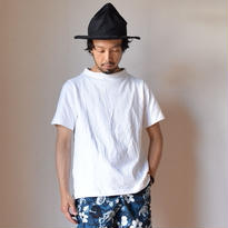 【RECOMMEND】nisica  GANSEY NECK CUTSEWN S/S WHT ニシカ ガンジーネックカットソー半袖 ホワイト