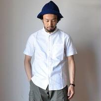 【完売御礼】nisica mokusiro  SMALL STAND  SHIRT S/S WHT ニシカ モクシロ スモールスタンドシャツ 半袖 ホワイト