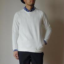 【RECOMMEND】Re made in tokyo japan アールーイーメイドイントーキョージャパン  NARROWRIB POCKET TRAINER ナローリブポケットトレーナー ホワイト