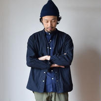 【完売御礼】MANUAL ALPHABET   GERMAN CLOTH V-NECK SHIRT NVY マニュアルアルファベット ジャーマンクロスVネックシャツ ネイビー